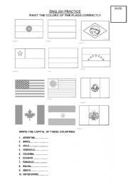 English Worksheet: SOUTH AMERICA COUNTRIES