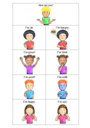 English Worksheets: how are you? I�m ______