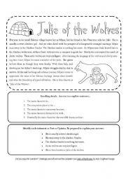 English Worksheets: Julie of the Wolves