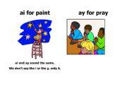 English Worksheets: Worksheet: ai and ay-words
