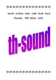 English Worksheets: Worksheet: th-sound