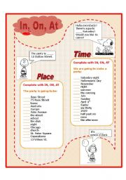 English Worksheet: There�s a party