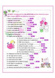 English Worksheets: Tag Questions Worksheet