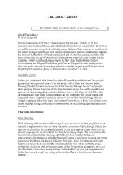 English Worksheets: The great Gatsby part 1