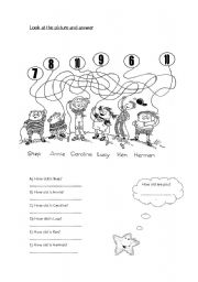 English Worksheet: How old is she/he?