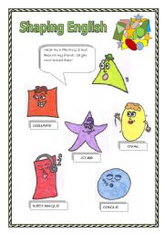 English Worksheets: shapes activities (3 pages)