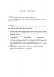 English Worksheet: Food chain