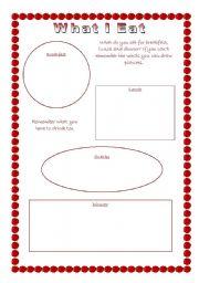 English worksheet: What I Eat