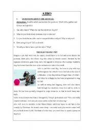 English Worksheets: ELECTRONIC PET