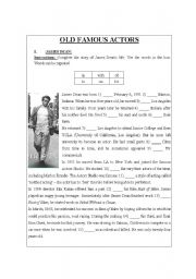 English Worksheets: OLD FAMOUS ACTORS