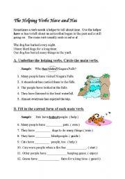 English worksheet: present perfect 2