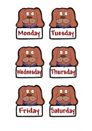 English Worksheets: Days of the week dogs.