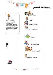 English Worksheets: BARNEY THE PHOTOGRAPHER