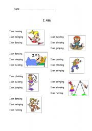 English Worksheets: I AM