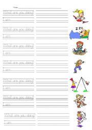 English Worksheets: I am