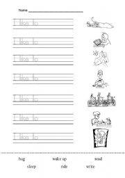 English Worksheets: I LIKE TO