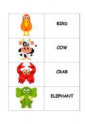 English Worksheets: ANIMALS - FLASHCARDS
