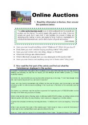 English Worksheets: online auctions