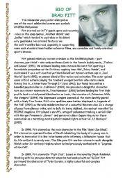 Bio of Brad Pitt