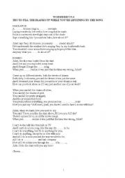 English Worksheet: Listening exercises on Romeo and Juliet song