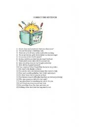 English Worksheets: mistakes