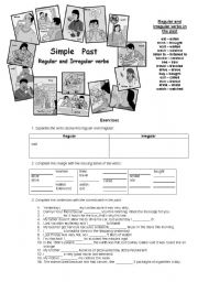 English Worksheet: Regular and Irregular verbs in the past!