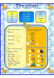 English Worksheets: Plural forms