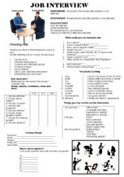 English Worksheet: Job Interview