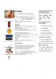 English Worksheet: Lucky - Britney Spears