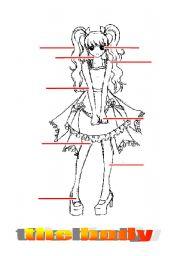 English Worksheets: body girl