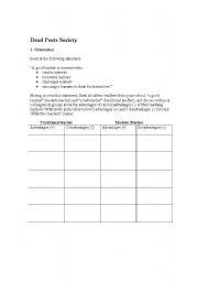 dead poets society-flim based worksheet