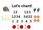 English Worksheet: Numbers �i1to 5) CHANT!