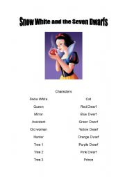 English Worksheet: Snow White and the Seven Dwarfs - Play Script