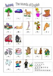 English Worksheet: sounds of English vowels