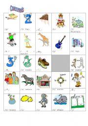 English Worksheet: sounds of English consonants