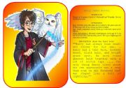 Harry Potter´s characters flashcards (pictures and profiles) - part 1 / 5