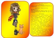 English Worksheet: Harry Potter�s characters flashcards (pictures and profiles) - part 3 / 5