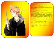 English Worksheets: Harry Potter�s characters flashcards (pictures and profiles) - part 4 / 5