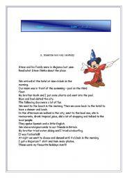 English Worksheet: Holidays/  past simple test