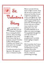 saint valentine s story esl worksheet by ariangie. Black Bedroom Furniture Sets. Home Design Ideas