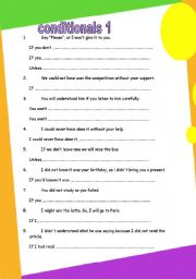 conditional transformation (5 pages) GRAMMAR WORKSHEET 4