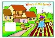 English Worksheets: Who�s in the farm? - practising farm animals with kids (part 1 / 4)
