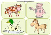 English Worksheets: Who�s in the farm? - practising farm animals with kids (part 3 / 4)