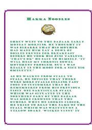 English Worksheets: hakka noodles