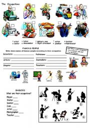 English Worksheets: Occupations and Jobs