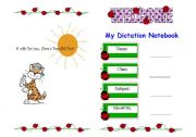 English Worksheet: Dictation Notebook Cover