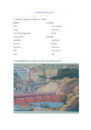 English Worksheet: AMERICAN ENGLISH