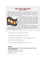English Worksheets: The film industry
