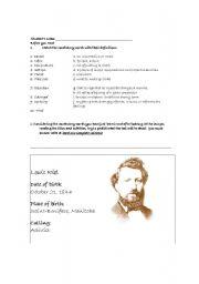 English Worksheets: Louis Riel