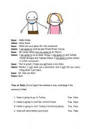 English Worksheet: will or be going to